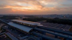 Stazione di transito della rapida DI MASSA di MRT in Kwasa Damansara Fotografie Stock