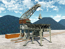Stazione di trasferimento del carbone Fotografia Stock Libera da Diritti