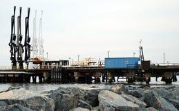 Stazione di trasferimento del petrolio Fotografia Stock