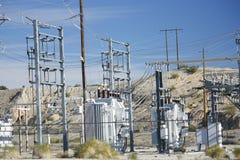 Stazione di trasformazione di potenza di elettricità Fotografia Stock