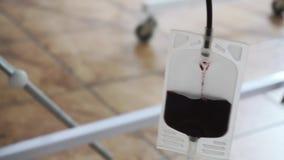 Stazione di trasfusione di sangue archivi video