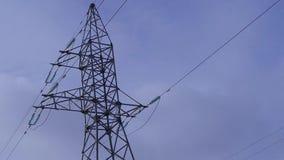 Stazione di trasmissione elettrica, corrente, tensione, sicurezza stock footage