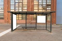 Stazione di viaggio della fermata dell'autobus Fotografie Stock