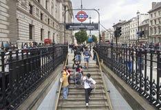 Stazione di Westminster Fotografie Stock Libere da Diritti