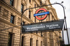 Stazione di Westminster Immagine Stock