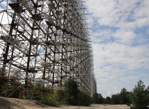 Stazione Duga 3, zona di radiolocalizzazione di Chornobyl Immagine Stock