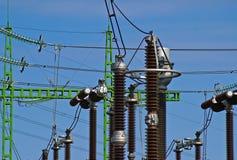 Stazione elettrica Fotografie Stock Libere da Diritti