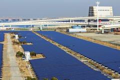 Stazione a energia solare Fotografia Stock