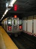 Stazione entrante della metropolitana di New York City Fotografie Stock