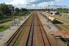 Stazione ferroviaria Fotografie Stock