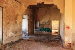 Stazione ferroviaria abbandonata a Albacete fotografie stock libere da diritti