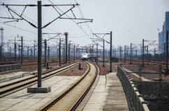 Stazione ferroviaria ad alta velocità Immagini Stock Libere da Diritti