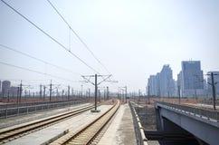 Stazione ferroviaria ad alta velocità Fotografia Stock Libera da Diritti