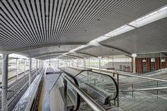 Stazione ferroviaria ad ovest di Harbin Immagine Stock