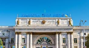 Stazione ferroviaria Almaty-2 nel Kazakistan Immagine Stock Libera da Diritti