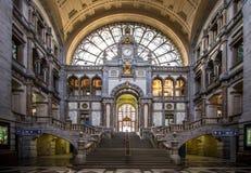 Stazione ferroviaria a Antwerpen Belgio Fotografia Stock Libera da Diritti