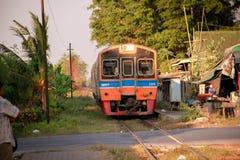 Stazione ferroviaria asiatica in Tailandia Fotografia Stock