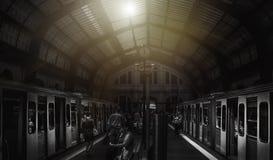 Stazione ferroviaria a Atene Fotografia Stock Libera da Diritti