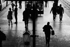 Stazione ferroviaria B&W Fotografie Stock Libere da Diritti