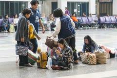Stazione ferroviaria a Bangkok Fotografia Stock Libera da Diritti