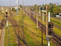 Stazione ferroviaria britannica Fotografie Stock Libere da Diritti