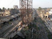 Stazione ferroviaria in Calcutta Fotografie Stock Libere da Diritti