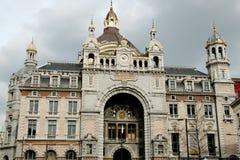 Stazione ferroviaria centrale - Anversa - Belgio fotografia stock libera da diritti