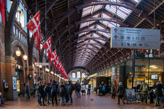 Stazione ferroviaria centrale di Copenhaghen Fotografia Stock