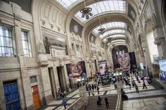Stazione ferroviaria centrale di Milano Immagine Stock Libera da Diritti