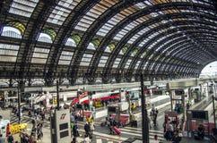 Stazione ferroviaria centrale di Milano Immagini Stock Libere da Diritti