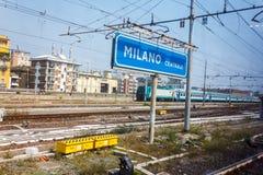Stazione ferroviaria centrale di Milano Fotografia Stock