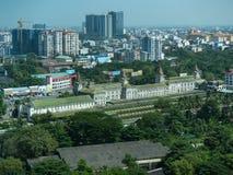 Stazione ferroviaria centrale di Rangoon Fotografie Stock