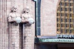 Stazione ferroviaria centrale di Suomi (Helsinki) Immagini Stock Libere da Diritti