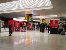 Stazione ferroviaria centrale a Roma, Italia Fotografia Stock Libera da Diritti
