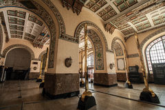 Stazione ferroviaria a Costantinopoli immagini stock