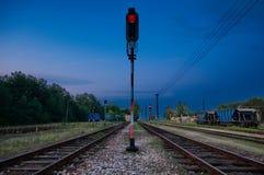 Stazione ferroviaria del carico dell'annata Immagini Stock Libere da Diritti