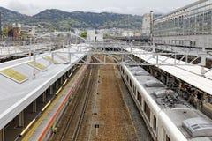 Stazione ferroviaria del Giappone Fotografia Stock Libera da Diritti