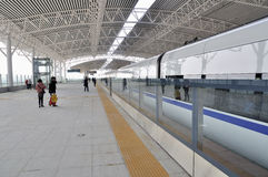 Stazione ferroviaria del nord di Zhongshan fotografia stock