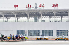 Stazione ferroviaria del nord di Zhongshan immagini stock libere da diritti