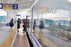 Stazione ferroviaria del nord di Zhuhai Fotografia Stock