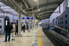 Stazione ferroviaria del sottopassaggio a Tokyo Fotografia Stock Libera da Diritti