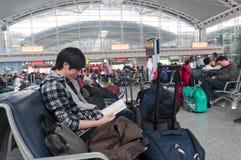 Stazione ferroviaria del sud di Guangzhou Fotografia Stock