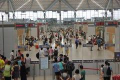 Stazione ferroviaria del sud di Shanghai Fotografia Stock Libera da Diritti