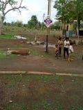 Stazione ferroviaria del villaggio Immagini Stock
