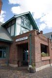 Stazione ferroviaria dell'albero per bandiera Fotografia Stock Libera da Diritti