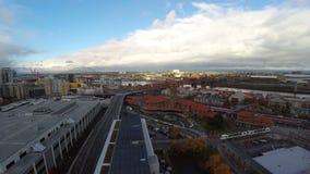 Stazione ferroviaria dell'antenna di Portland stock footage