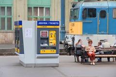 Stazione ferroviaria dell'Ungheria Immagine Stock
