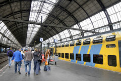 Stazione ferroviaria della centrale di Amsterdam Immagini Stock Libere da Diritti