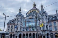Stazione ferroviaria della centrale di Anversa fotografia stock