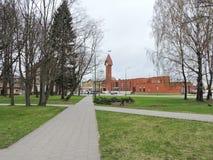 Stazione ferroviaria della città di Klaipeda, Lituania Immagine Stock
